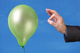 balloon with pin prick
