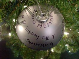 Christmas memory balls