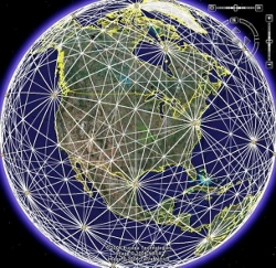 globe interconnected lines