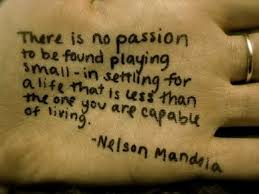 Passion mandela quote on hand